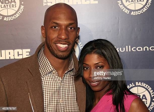 Chauncey Billups and wife Piper Riley attend the NBA Players Association AllStar Gala on February 13 2010 in Dallas Texas