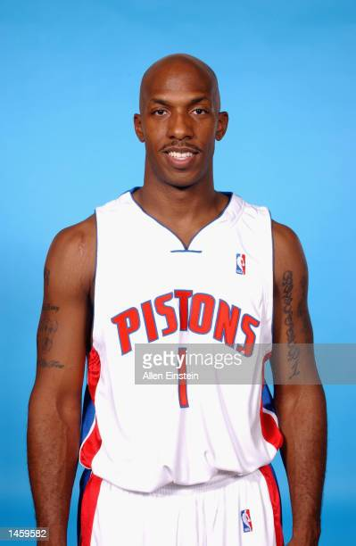Chauncey Billups of the Detroit Pistons poses for a portrait during Media Day on September 30 2002 at the Palace of Auburn Hills in Auburn Hills...