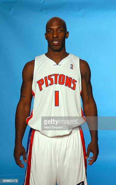 Chauncey Billups of the Detroit Pistons poses for a portrait during the Pistons Media Day on October 3 2005 in Auburn Hills Michigan NOTE TO USER...
