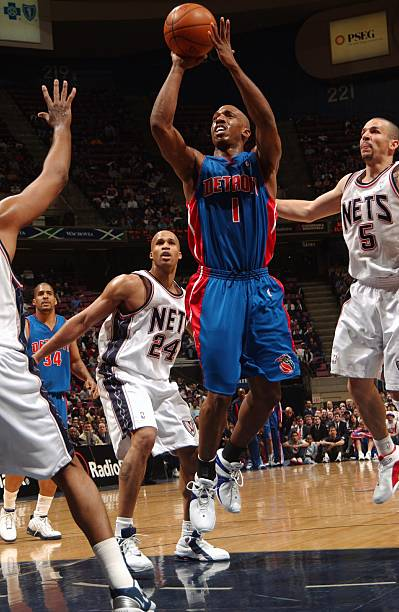 buy popular 0502d 0d071 Detroit Pistons v New Jersey Nets Photos and Images | Getty ...