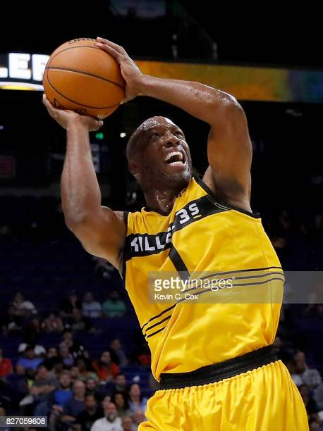 Chauncey Billups of the Killer 3s shoots the ball during the game against 3's Company during week seven of the BIG3 three on three basketball league...
