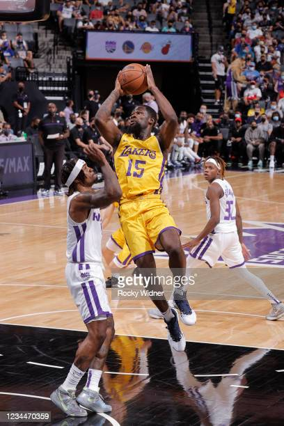 Chaundee Brown Jr. #15 of the Los Angeles Lakers shoots the ball against the Sacramento Kings during the 2021 California Classic Summer League on...