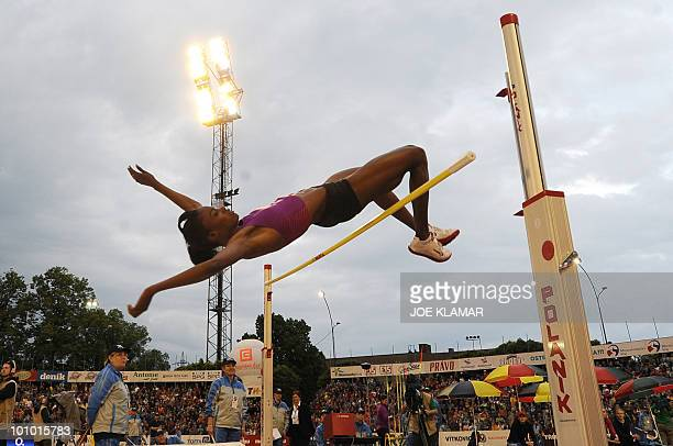 Chaunte Howard Lowe of the US competes in the women's high jump during IAAF World challenge Zlata Tretra athletic meeting in Czech's eastern metropol...