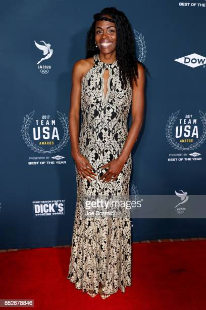 Chaunte Lowe attends the 2017 Team USA Awards on November 29 2017 in Westwood California