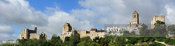 chauvigny, poitou charentes, france - chauvigny stock pictures, royalty-free photos & images