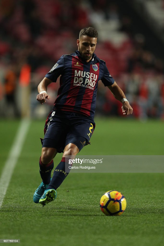 GD Chaves defender Paulinho from Portugal during the match between SL Benfica and GD Chaves for the Portuguese Primeira Liga at Estadio da Luz on January 20, 2018 in Lisbon, Portugal.