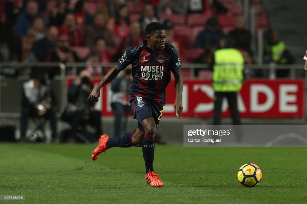 GD Chaves forward Jorge Intima from Portugal during the match between SL Benfica and GD Chaves for the Portuguese Primeira Liga at Estadio da Luz on January 20, 2018 in Lisbon, Portugal.