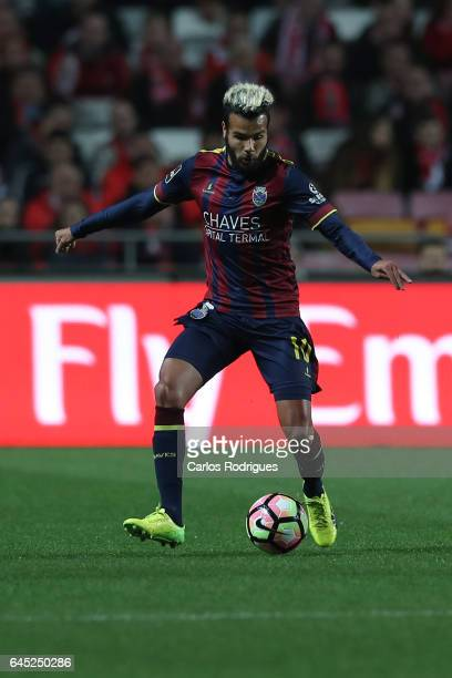 Chaves forward Perdigao from Brazil during the match between SL Benfica and GD Chaves for the Portuguese Primeira Liga at Estadio da Luz on February...
