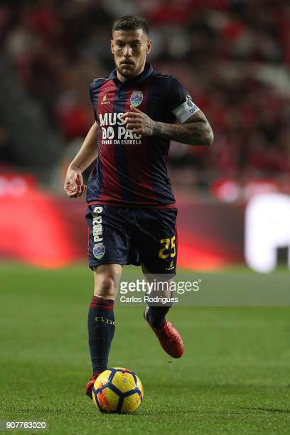 Chaves midfielder Pedro Tiba from Portugal during the match between SL Benfica and GD Chaves for the Portuguese Primeira Liga at Estadio da Luz on...