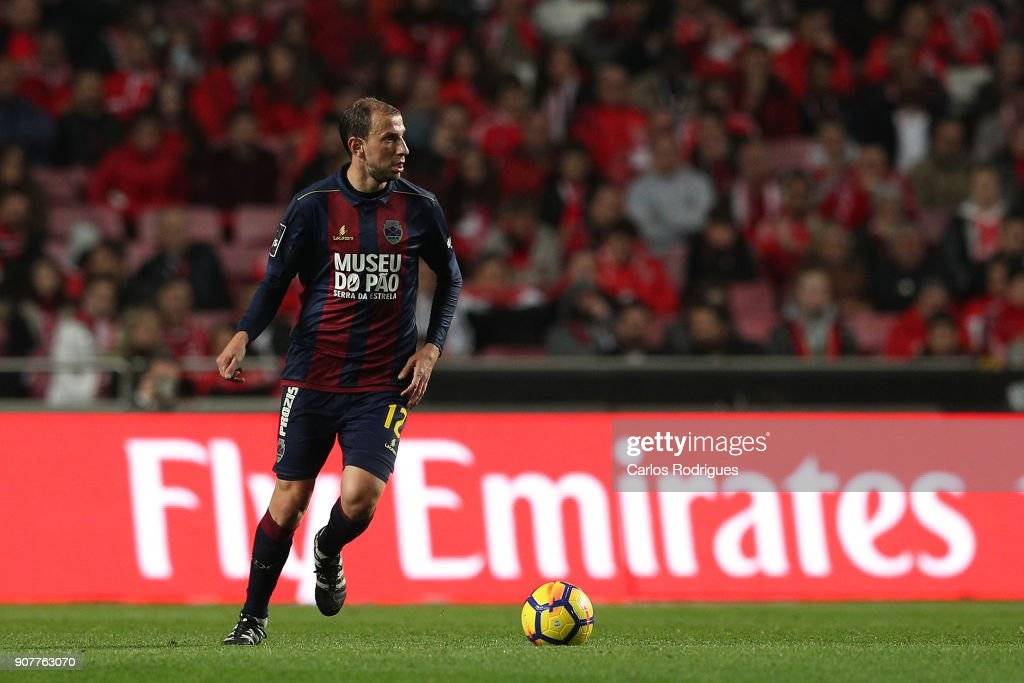 GD Chaves midfielder Renan Bressan from Belarus during the match between SL Benfica and GD Chaves for the Portuguese Primeira Liga at Estadio da Luz on January 20, 2018 in Lisbon, Portugal.