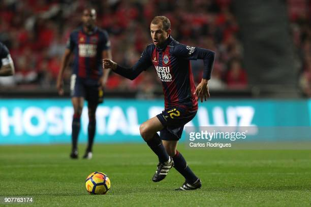 Chaves midfielder Renan Bressan from Belarus during the match between SL Benfica and GD Chaves for the Portuguese Primeira Liga at Estadio da Luz on...