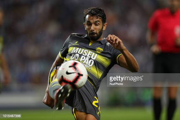 GD Chaves Portuguese defender Filipe Brigues in action during the Premier League 2018/19 match between FC Porto and GD Chaves at Dragao Stadium in...
