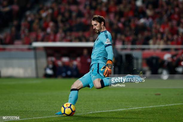 Chaves's goalkeeper Antonio Filipe in action during Primeira Liga 2017/18 match between SL Benfica vs GD Chaves in Lisbon on January 20 2018