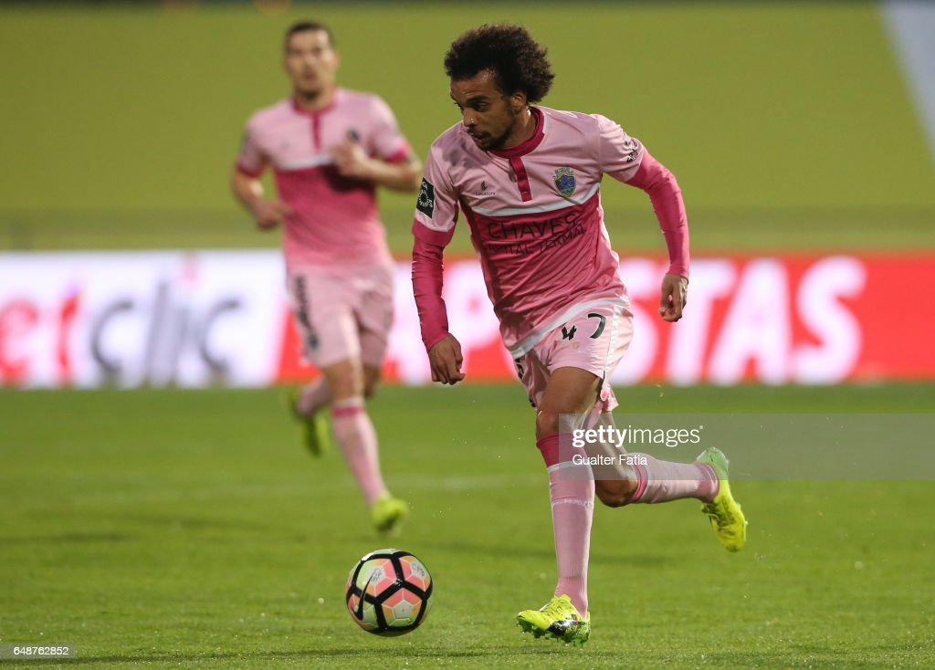 Chaves's midfielder Fabio Martins from Portugal in action during the Primeira Liga match between Sporting CP and Vitoria Guimaraes at Estadio Jose Alvalade on March 5, 2017 in Lisbon, Portugal.