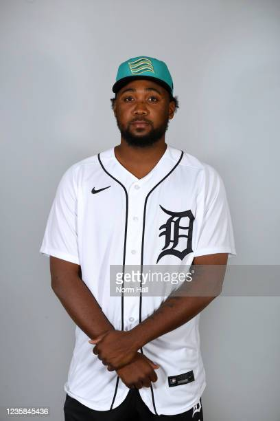 Chavez Fernander of the Salt Rive Rafters poses for a headshot during the 2021 Arizona Fall League Headshots at Salt River Fields at Talking Stick on...