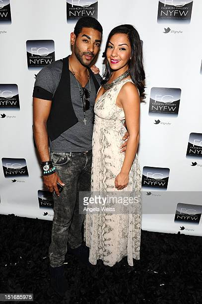 Chavis Aaron and guest attend the Anna Francesca Spring 2013 fashion show during MercedesBenz Fashion Week at Helen Mills Event Space on September 9...