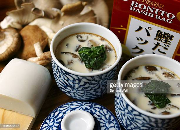 ChawanMushi _BW01_103002--Chawan Mushi and its ingredients for Nov 3 Marian Kane column. BERNARD WEIL/ TORONTO STAR) DIGITAL IMAGE