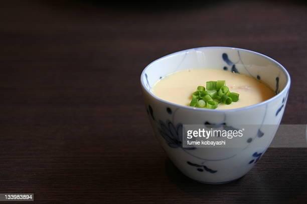 chawanmushi in bowl - chawanmushi stock pictures, royalty-free photos & images