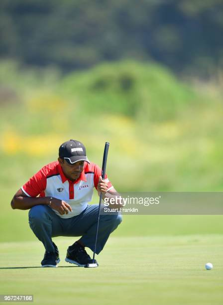 Chawrasia of India lines up a putt during day two of the Rocco Forte Open at Verdura Golf and Spa Resort on May 11 2018 in Sciacca Italy
