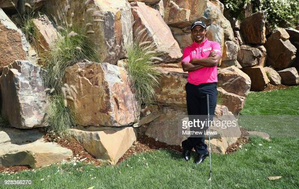 P Chawrasia of India pictured during a practice round ahead of the Hero Indian Open at Dlf Golf and Country Club on March 7 2018 in New Delhi India