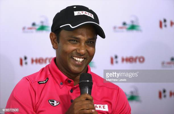 Chawrasia of India pictured during a press conference ahead of the Hero Indian Open at Dlf Golf and Country Club on March 7 2018 in New Delhi India