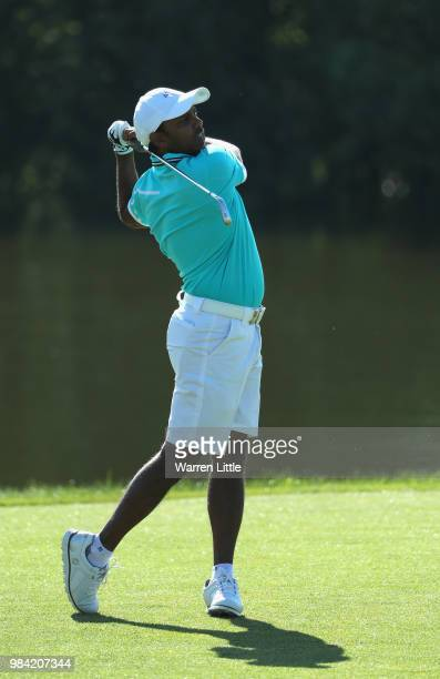 Chawrasia of India plays a practice round ahead of the HNA Open de France at Le Golf National on June 26 2018 in Paris France