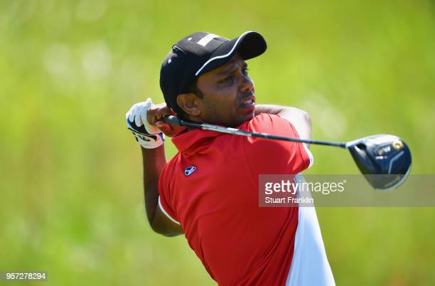 Chawrasia of India tees off during day two of the Rocco Forte Open at Verdura Golf and Spa Resort on May 11 2018 in Sciacca Italy