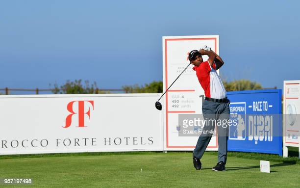 Chawrasia of India tees off on the 1st hole during day two of the Rocco Forte Open at Verdura Golf and Spa Resort on May 11 2018 in Sciacca Italy