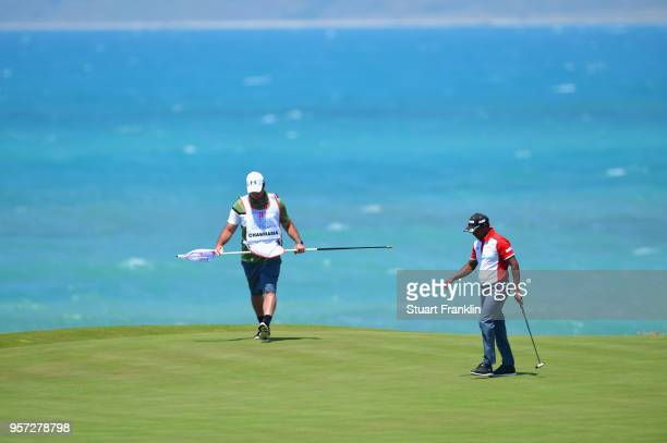 Chawrasia of India walks on the green during day two of the Rocco Forte Open at Verdura Golf and Spa Resort on May 11 2018 in Sciacca Italy
