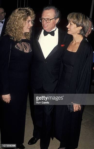 Chaya King Larry King and Cyndy Garvey during 1995 American Friends Hebrew University Scopus Awards Honoring Ted Turner at Beverly Hilton Hotel in...