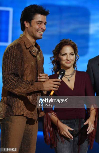 Chayanne and Gloria Estefan during Spanish Public Television's Channel TVE New Season Gala at Bruuel Studios in Madrid Spain