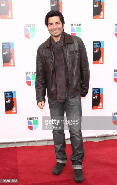 "Chayanne arrives at recording of ""Somos El Mundo"" - ""We Are The World"" by Latin recording artits at American Airlines Arena on February 19, 2010 in..."