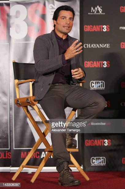 Chayanne attends a press conference to announce tour at American Airlines Arena on April 23, 2012 in Miami, Florida.