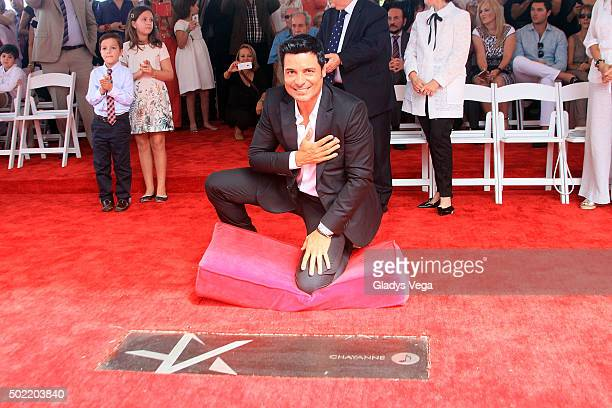 Chayanne attends Paseo De La Fama in which he was honored with star on December 21 2015 in San Juan Puerto Rico