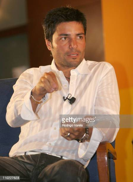 Chayanne during 2005 Billboard Latin Music Awards and Conference - Q&A with Chayanne at Intercontinental Hotel in Miami, Florida, United States.