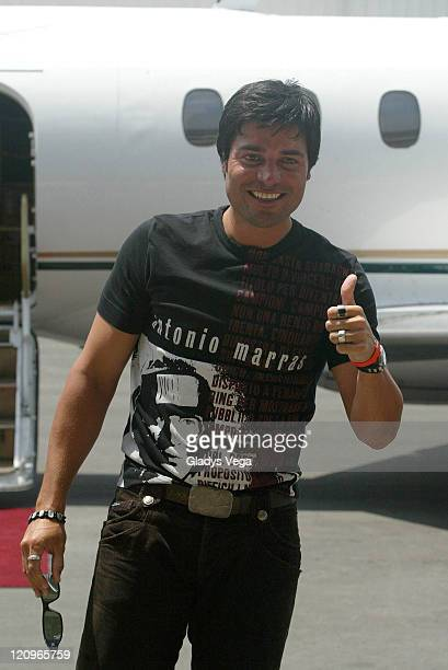 Chayanne during Chayanne Arrives in Puerto Rico April 12 2007 at Isla Grande Airport in San Juan Puerto Rico