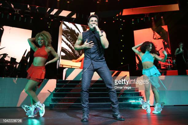 Chayanne performs live during a show as part of the ' Desde El Alma Tour' at Verizon Theater on September 21 2018 in Grand Prairie Texas