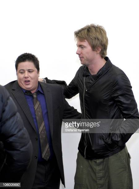 Chaz Bono and Elijah Blue at 'StepandRepeat' Presented By Elijah Blue and Kantor Gallery on February 24th 2010 in Los Angeles CA