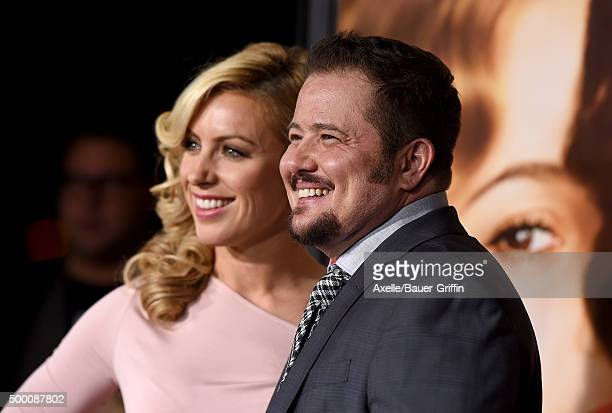 Chaz Bono and guest arrive at the premiere of Focus Features' 'The Danish Girl' at Westwood Village Theatre on November 21 2015 in Westwood California