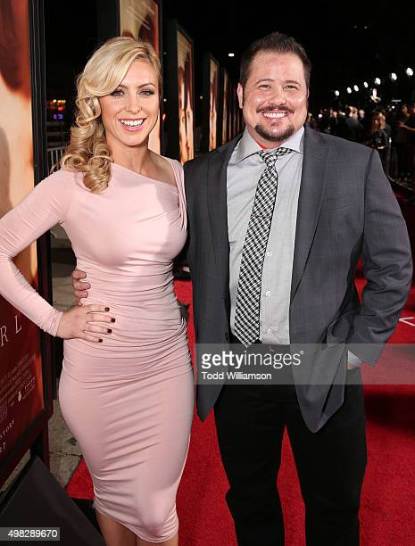 Chaz Bono and guest attend the premiere Of Focus Features' The Danish Girl on November 21 2015 in Westwood California