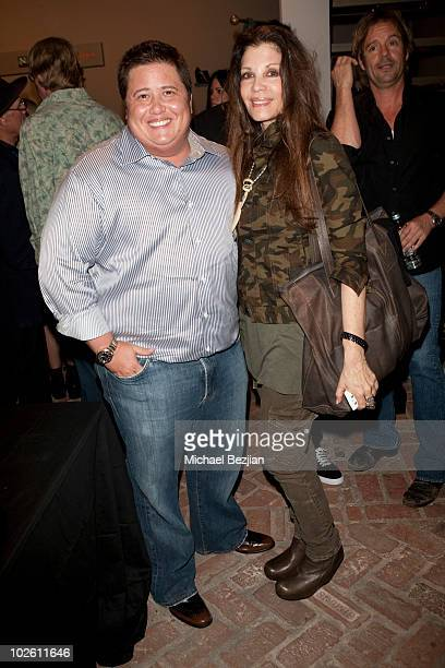 Chaz Bono and jewelry designer Loree Rodkin attend Elijah Blue's 'Stuff Of Legends' Art Opening at Madison Gallery on July 2 2010 in Los Angeles...