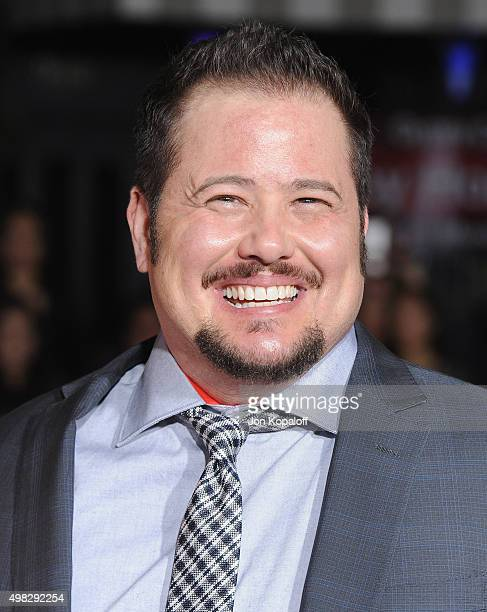 Chaz Bono arrives at the Los Angeles Premiere Of Focus Features' The Danish Girl at Westwood Village Theatre on November 21 2015 in Westwood...