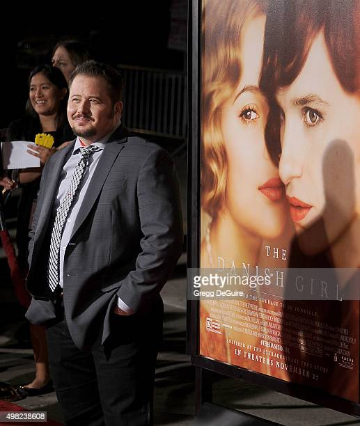 Chaz Bono arrives at the premiere of Focus Features' The Danish Girl at Westwood Village Theatre on November 21 2015 in Westwood California