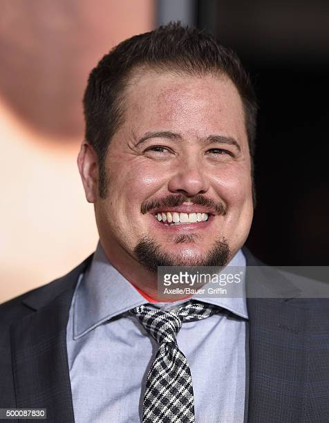 Chaz Bono arrives at the premiere of Focus Features' 'The Danish Girl' at Westwood Village Theatre on November 21 2015 in Westwood California