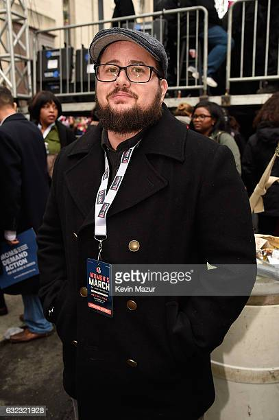 Chaz Bono attends the rally at the Women's March on Washington on January 21 2017 in Washington DC