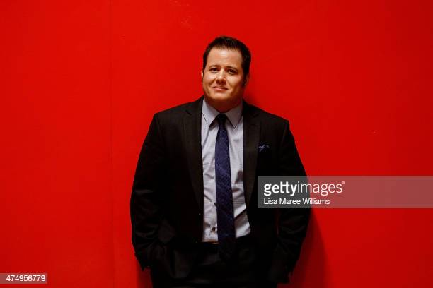 Chaz Bono poses backstage prior to speaking with Dr Elizabeth Riley as part of the 2014 Sydney Gay Lesbian Mardi Gras at the Seymour Centre on...