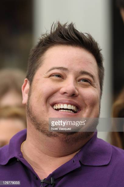 Chaz Bono visits Extra at The Grove on October 20 2011 in Los Angeles California