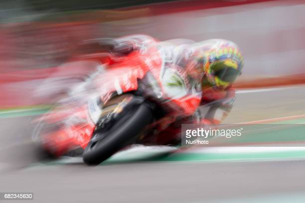 Chaz Davies of Arubait Racing Ducati mark the best laps during the free practice of the Motul FIM Superbike Championship Italian Round at...