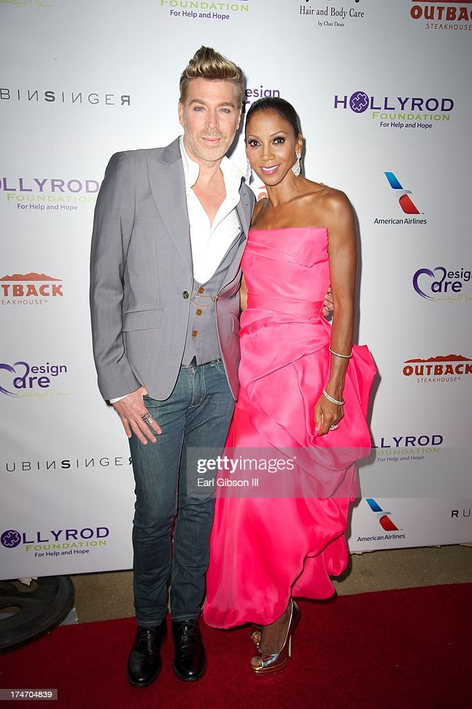 Chaz Dean and Holly Robinson Peete attend the 15th Annual DesignCare on July 27, 2013 in Malibu, California.