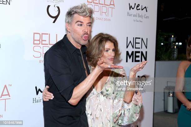Chaz Dean and Joanne Dean attend Chaz Dean summer party 2018 benefiting Love is Louder on August 11 2018 in Los Angeles California